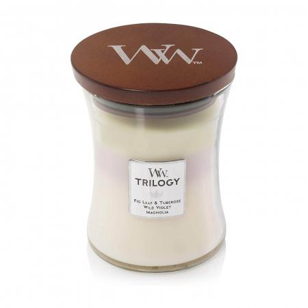 Lumanare parfumata Woodwick trilogy terrace blossoms Borcan mediu2
