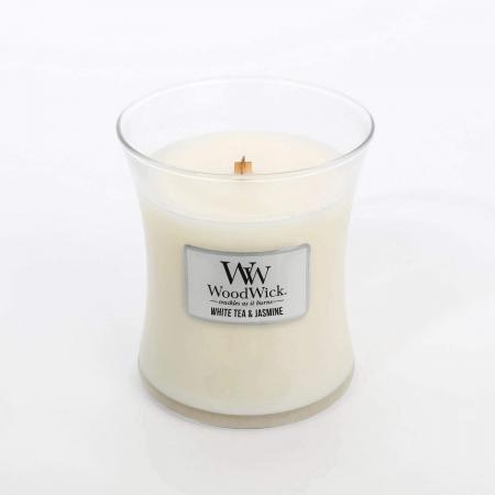 Lumanare parfumata Woodwick white tea jasmine borcan mediu1