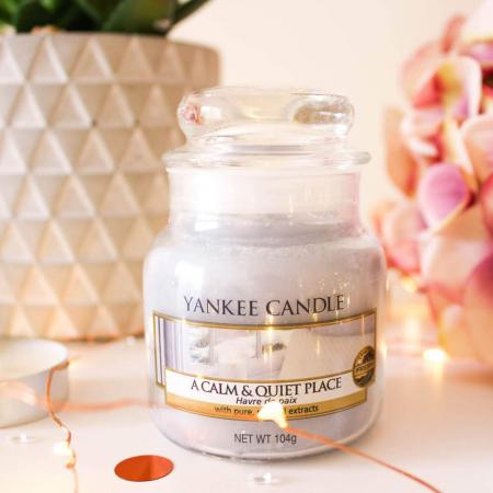 Lumanare parfumata Yankee Candle a calm quiet place Borcan mic0