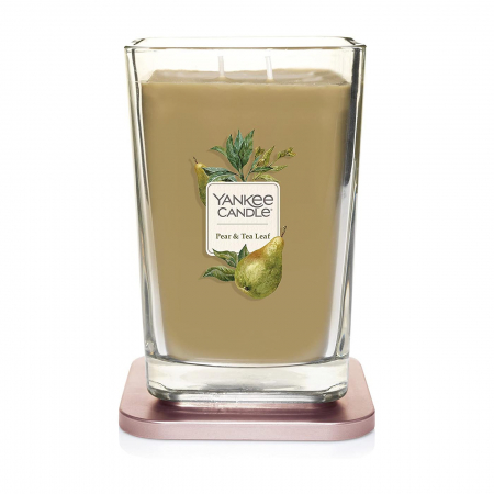 Lumanare parfumata Yankee Candle elevation collection pear tea leaf Borcan mare1