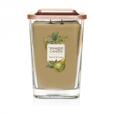Lumanare parfumata Yankee Candle elevation collection pear tea leaf Borcan mare2