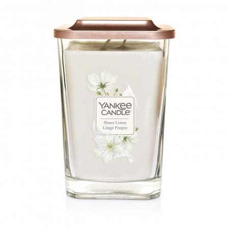 Lumanare parfumata Yankee Candle elevation collection sheer linen Borcan mare2