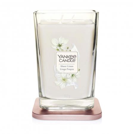 Lumanare parfumata Yankee Candle elevation collection sheer linen Borcan mare1