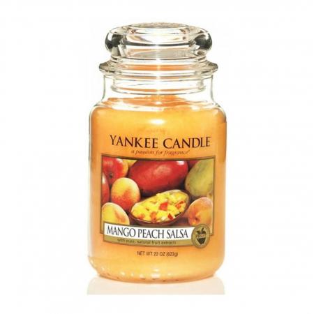 Lumanare parfumata Yankee Candle mango peach salsa Borcan mare1