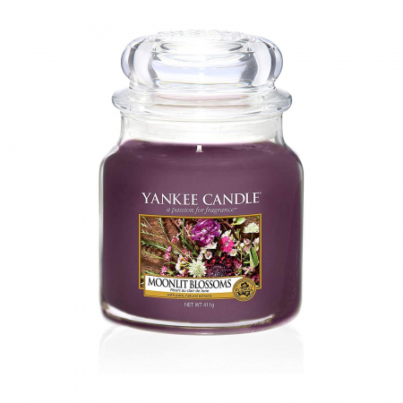Lumanare parfumata Yankee Candle moonlit blossoms Borcan mediu1