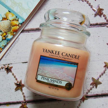 Lumanare parfumata Yankee Candle pink sands Borcan mediu0