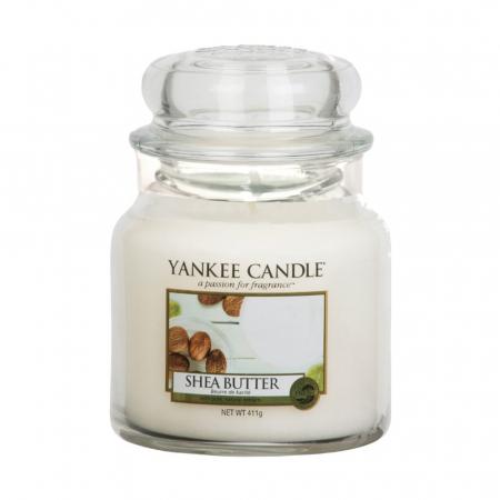 Lumanare parfumata Yankee Candle shea butter Borcan mediu1