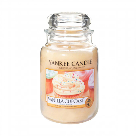 Lumanare parfumata Yankee Candle vanilla cupcake Borcan mare1