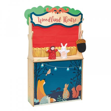 Magazin si teatru de marionete pentru copii, stand din lemn premium9