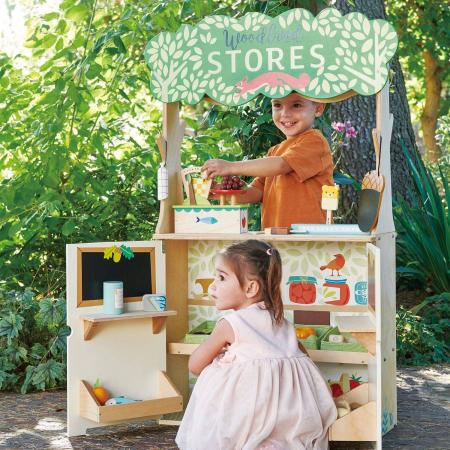 Magazin si teatru de marionete pentru copii, stand din lemn premium0