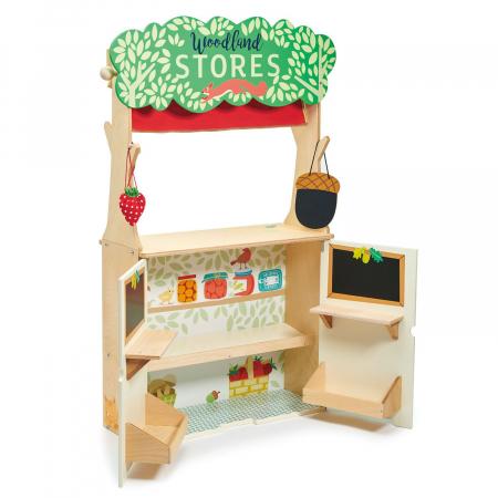 Magazin si teatru de marionete pentru copii, stand din lemn premium7