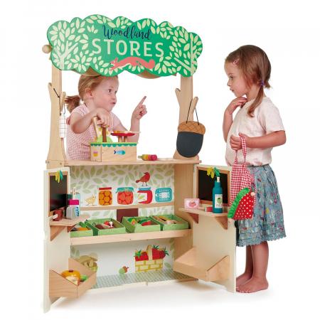 Magazin si teatru de marionete pentru copii, stand din lemn premium5
