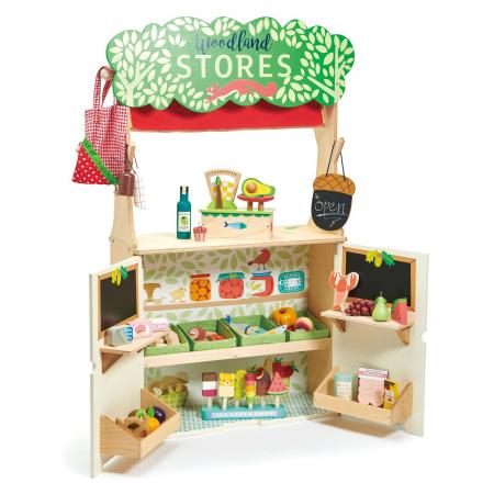 Magazin si teatru de marionete pentru copii, stand din lemn premium6