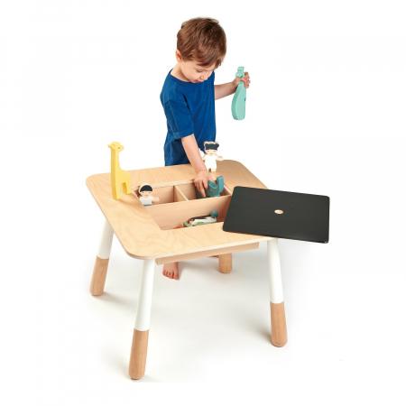Masuta de joaca pentru copii, cu zona depozitare jucarii1