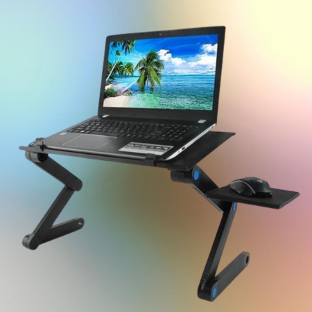 Masuta laptop cu ventilator usb si mousepad0