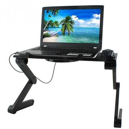 Masuta laptop cu ventilator usb si mousepad7