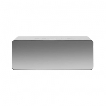 Mini ceas desteptator LED cu termometru si oglinda, dreptunghiular5