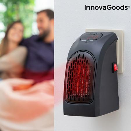 Mini radiator ceramic de priza cu termostat reglabil0