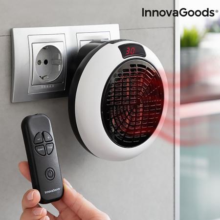 Mini radiator ceramic de priza cu termostat reglabil si telecomanda0