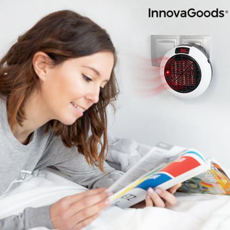 Mini radiator ceramic de priza cu termostat reglabil si telecomanda3