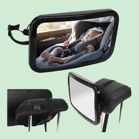 Oglinda auto bebelusi pentru supraveghere scaun spate0