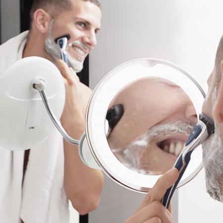Oglinda machiaj cu becuri led, maleabila [2]