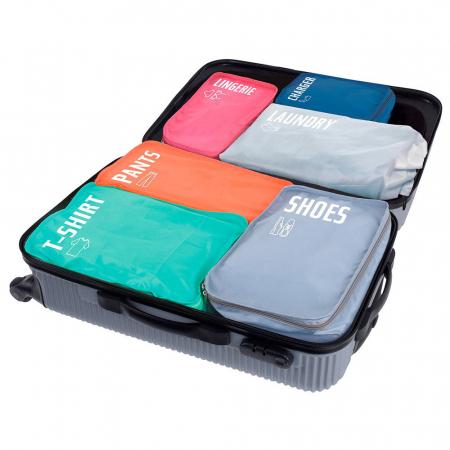 Organizator bagaje, 6 huse separatoare [1]