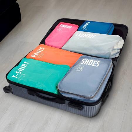 Organizator bagaje, 6 huse separatoare [0]