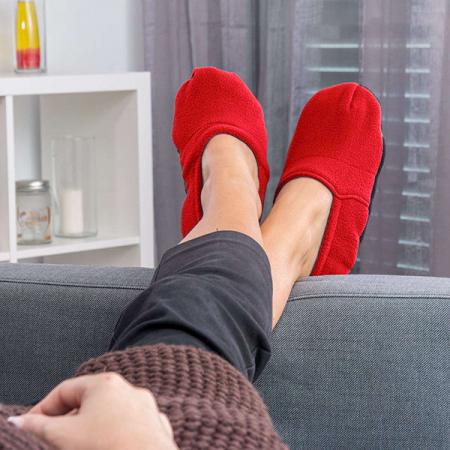 Papuci cu incalzire la microunde, Rosii0