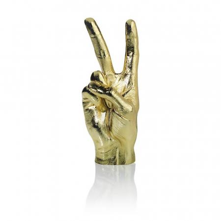 Peace, suport si obiect decorativ victorios, Gold2
