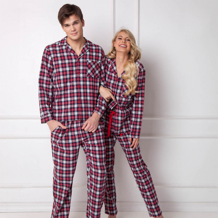 Pijamale barbati Hollis 2 piese, pantaloni lungi, 100% bumbac2