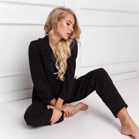 Pijamale dama Berthine 2 piese, pantaloni lungi1