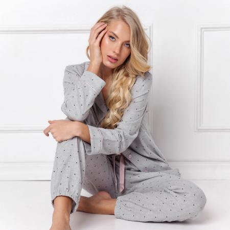 Pijamale dama Christy 2 piese, pantaloni lungi, 100% bumbac1