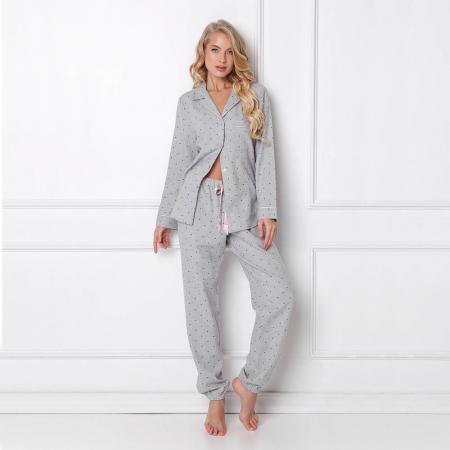 Pijamale dama Christy 2 piese, pantaloni lungi, 100% bumbac0