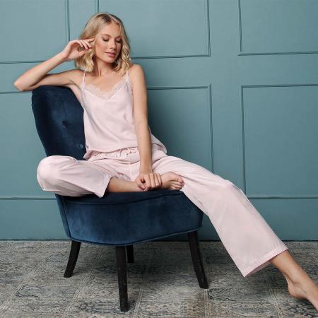 Pijamale dama Danny 2 piese, pantaloni lungi0