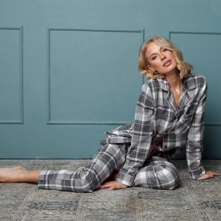 Pijamale dama Marly 2 piese, pantaloni lungi, 100% bumbac1
