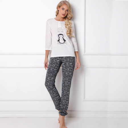 Pijamale dama Peggy Arctic 2 piese, pantaloni lungi0
