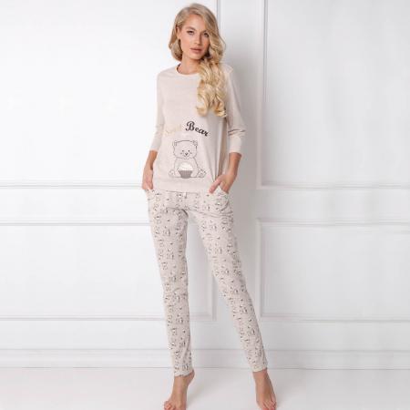 Pijamale dama Sweet Bear 2 piese, pantaloni lungi0