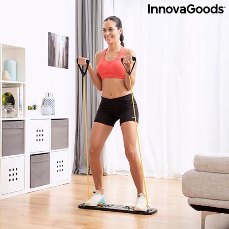 Placa fitness cu benzi elastice de rezistenta si ghid exercitii4