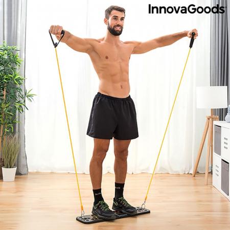 Placa fitness cu benzi elastice de rezistenta si ghid exercitii1