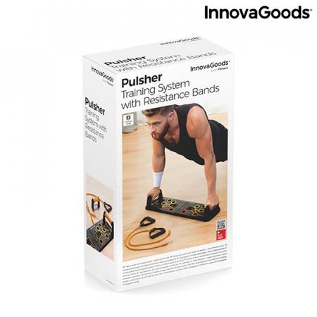 Placa fitness cu benzi elastice de rezistenta si ghid exercitii15
