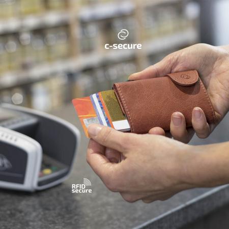 Portofel Carduri RFID din piele cu buzunar de monede1