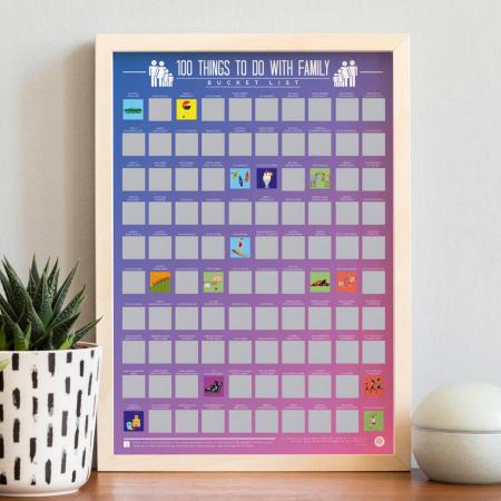 Poster razuibil 100 lucruri de facut cu familia0