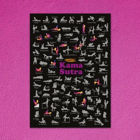 Poster razuibil 100 pozitii Kama Sutra Fun Positions1