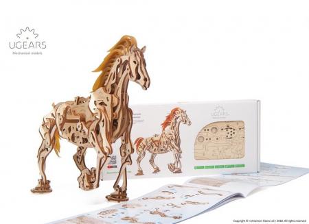 Puzzle 3D Cal Bionic din lemn Ugears [16]