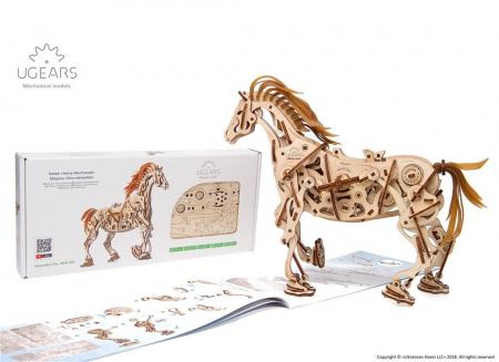 Puzzle 3D Cal Bionic din lemn Ugears [15]