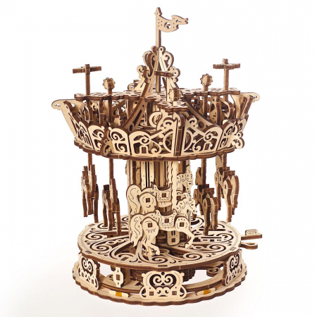 Puzzle 3D Carusel din lemn Ugears4