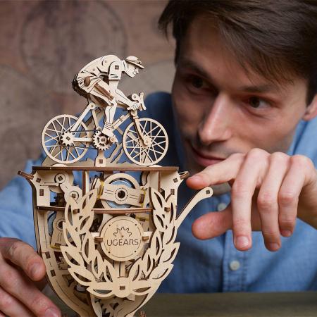 Puzzle 3D Ciclist Automat din lemn Ugears [2]