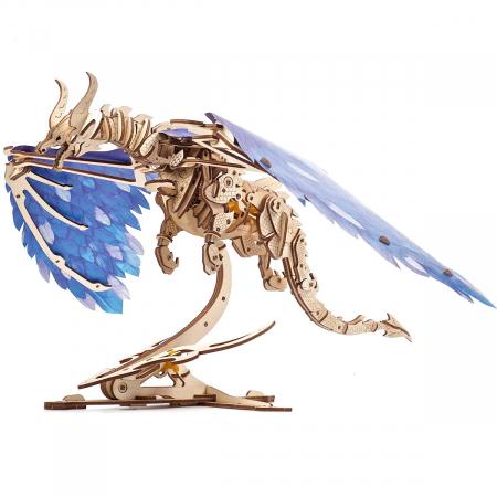 Puzzle 3D Dragonul Furtunii din lemn Ugears [6]