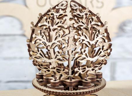Puzzle 3D Floare din Lemn Ugears [5]